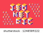 isometric 3d font  three... | Shutterstock .eps vector #1248589222