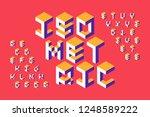 isometric 3d font  three... | Shutterstock .eps vector #1248589222