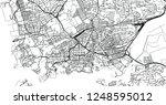 urban vector city map of... | Shutterstock .eps vector #1248595012