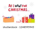 all i want for christmas....   Shutterstock .eps vector #1248595945