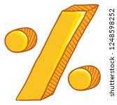 vector cartoon gold percent... | Shutterstock .eps vector #1248598252