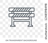 barrier icon. trendy flat... | Shutterstock .eps vector #1248598498