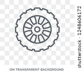 car spare wheel icon. car spare ... | Shutterstock .eps vector #1248606172