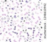 light purple  pink vector... | Shutterstock .eps vector #1248610942