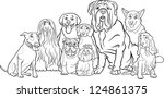 black and white cartoon...   Shutterstock .eps vector #124861375