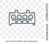 car cylinder icon. car cylinder ... | Shutterstock .eps vector #1248614152