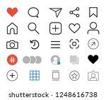 set of social network icons.... | Shutterstock .eps vector #1248616738
