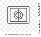 militar insignia icon. militar... | Shutterstock .eps vector #1248626998