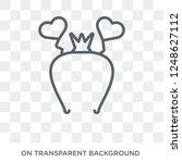 headband icon. headband design... | Shutterstock .eps vector #1248627112