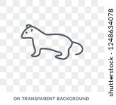 Weasel Icon. Trendy Flat Vecto...