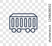 wagon icon. trendy linear wagon ... | Shutterstock .eps vector #1248638032