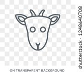 goat icon. trendy flat vector... | Shutterstock .eps vector #1248640708