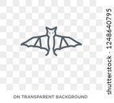 bat icon. trendy flat vector... | Shutterstock .eps vector #1248640795