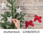 christmas theme background in... | Shutterstock . vector #1248650515