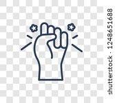 strength icon. trendy linear... | Shutterstock .eps vector #1248651688