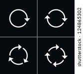 4 arrow pictogram refresh...   Shutterstock .eps vector #124865302