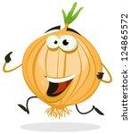 cartoon happy onion character ...