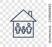 household icon. trendy linear... | Shutterstock .eps vector #1248660682