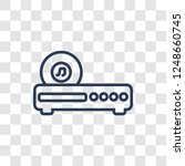 cd player icon. trendy linear... | Shutterstock .eps vector #1248660745