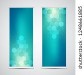 roll up banner stands with... | Shutterstock .eps vector #1248661885