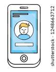 technology smartphone cartoon | Shutterstock .eps vector #1248663712