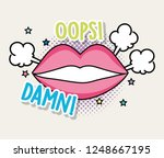 fashion mouth with message... | Shutterstock .eps vector #1248667195