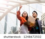 asian businessman and... | Shutterstock . vector #1248672532