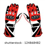 motorcycle gloves | Shutterstock .eps vector #124868482