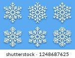 3d vector papercut decorative... | Shutterstock .eps vector #1248687625