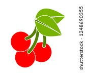 cherry icon  vector fruit... | Shutterstock .eps vector #1248690355