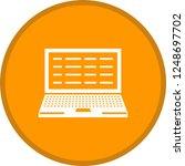 writing laptop glyph round... | Shutterstock .eps vector #1248697702
