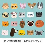 vector illustration set of cute ... | Shutterstock .eps vector #1248697978