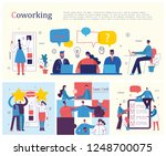 vector illustrations of young... | Shutterstock .eps vector #1248700075