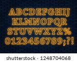 neon yellow font. bright... | Shutterstock .eps vector #1248704068