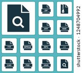 types icons set with zip  mp3 ... | Shutterstock .eps vector #1248704992