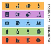 drink icons set with ale mug ... | Shutterstock . vector #1248705028