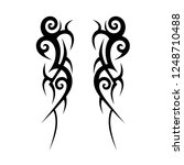tribal tattoo art designs art. | Shutterstock .eps vector #1248710488