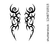 tribal tattoo art designs art. | Shutterstock .eps vector #1248710515