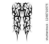 tribal tattoo sleeve art...   Shutterstock .eps vector #1248710575
