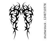 tribal tattoo art pattern... | Shutterstock .eps vector #1248710578