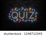 vector realistic isolated neon... | Shutterstock .eps vector #1248712345