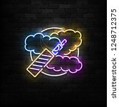 vector realistic isolated neon... | Shutterstock .eps vector #1248712375