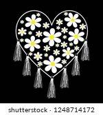 daisy love for t shirt slogan | Shutterstock .eps vector #1248714172