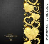 valentines day background with... | Shutterstock .eps vector #1248716572