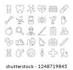 medicine icons set. linear... | Shutterstock . vector #1248719845
