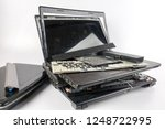 dirty obsolete laptops isolated ... | Shutterstock . vector #1248722995