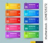 infographics template 10... | Shutterstock .eps vector #1248725272