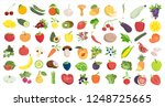 healthy food likes. fruits and... | Shutterstock . vector #1248725665