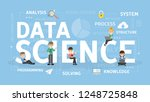 data science concept...   Shutterstock . vector #1248725848
