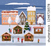 christmas market or holiday...   Shutterstock .eps vector #1248728578